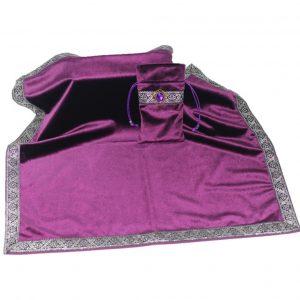Khăn & Túi Tarot Art Nouveau Dark Violet (Tím)