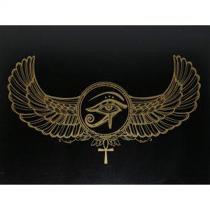 Hộp Gỗ Đen Horus Eye Đựng Bài Tarot