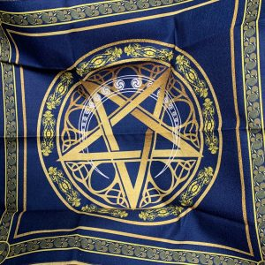Khăn Trải Bài Tarot Wicca Star Crescent