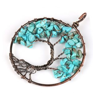 Mặt Dây Chuyền Tree of Life Blue Turquoise