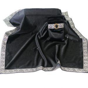 Khăn & Túi Tarot Art Nouveau Onyx Black (Đen)