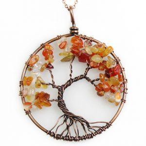 Mặt Dây Chuyền Tree of Life Carnelian