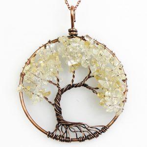 Mặt Dây Chuyền Tree of Life Citrine