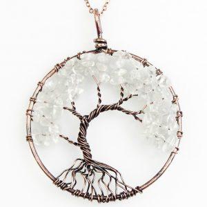 Mặt Dây Chuyền Tree of Life Clear Quartz