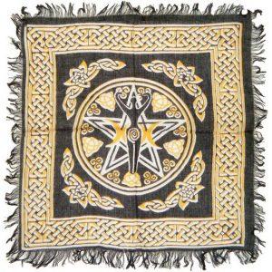 Khăn Trải Bài Tarot Pentagram Goddess