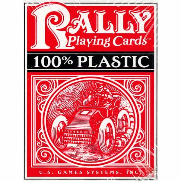 Plastic Rally Playing Cards (Đỏ)