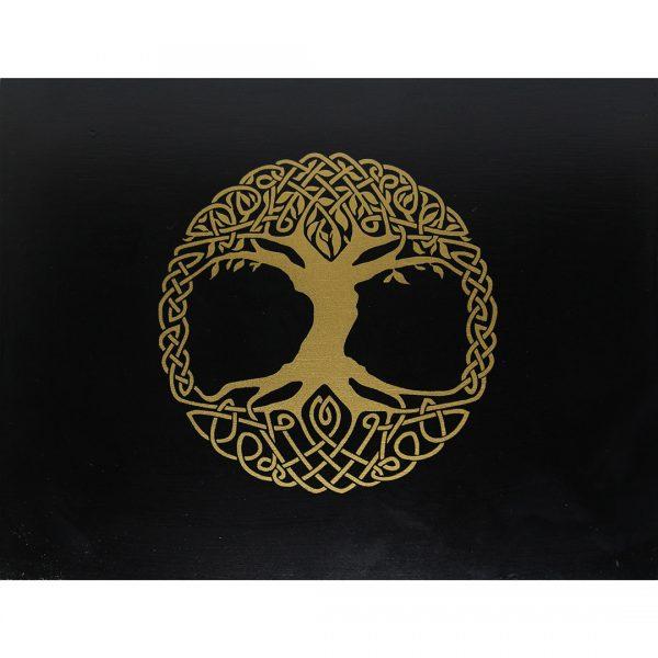 Hộp Gỗ Đen Tree of Life Đựng Bài Tarot